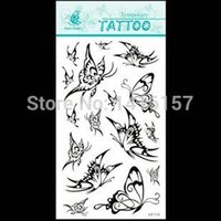 black and white butterfly tattoos - Min order is mix order Black and white butterfly Pattern design DIY Temporary Waterproof body art Tattoo Stickers GF314
