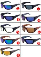 Wholesale Cycling One Piece - 2017 new fashion classic sports sunglasses, bright one piece reflective cycling sunglasses, fashion sunglasses 1418, a variety of sunglasses