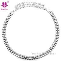 Wholesale Diamante Belts - New Silver Diamante Chain Belt Cubic Zirconia Belts Women Diamond Ladies Waist Belt Designer Luxury Jewelry (BL-479) YouKee Belt