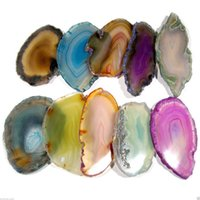 Wholesale New Colorful Artificial Agate Crystal Landscape Slice Irregular Hanging DIY Charm Pendant Home Party Wedding Decoration