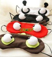 Wholesale W C Cover - Cute Big Eye Cartoon Soft Sleep Aid Mask Eye Shade Blindfold Cover c w ice bag Brand New