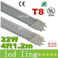 Wholesale Daylight Fluorescent Lamp Tube - LED 22W Daylight 5000K T8 4FT 1.2m Led Tubes Light 2100 Lumens 96 Leds 2835 SMD Led Fluorescent Lamp AC 85-265V