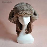 Wholesale Russian Cossack Hat Black - Wholesale- Winter Unisex Mens Ladies Faux Fur Warm Ski Ushanka Russian Cossack Trapper Hat 014