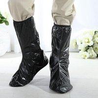Wholesale Transparent Knee Boots - 2016 new Wholesale Transparent Reusable Shoe Covers Rainy Motorcycle Riding Cycling Non-Slip Waterproof Shoe Covers Protective