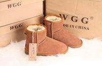 Wholesale Nubuck Cowhide Leather Shoes - Hot Sale Australian Women Snow Boost WGG Women Snow Boots 100% Genuine Cowhide Leather Ankle Boots Warm Winter Boots Woman shoes