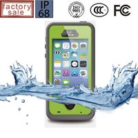 Wholesale Cell Phone Touch Slim - NEW redpepper For Apple iPhone 5 5S Waterproof Smart Cell Phone Case Fingerprint Touch ID Durable Slim Luxury Shockproof Protective Cover