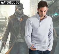 Wholesale Cosplay Sweaters - Watch Dogs Aiden Pearce Sweater Cosplay Costume Men's Sweater Good Quality M L XL XXL Free Shipping