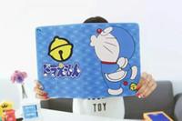 housses pour ipad mini cuir bleu achat en gros de-Bleu Pour ipad 2 5 air 6 air2 Couper la couverture en cuir doraemon chat de dessin animé pour ipad mini 3 tpu dos tablette Stand stand