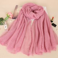 Wholesale scarves shimmer - Silver glitter Cotton solid scarf women wrinkle shimmer shawl crumple scarves muslim glitter shawls arab hijabs shinny BS465