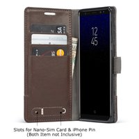 Wholesale leather phone cases style online - MUXMA Flip Case Card Slots Phone Cases For Samsung S7 Edge S8 S8Plus Note8 Business Style Wallet Case Leather