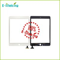 Wholesale Touch Ipad Iphone - Best quality For iPad mini & mini 2 3 4 Touch Screen Digitizer Assembly Glass Front Lens Replacement Part Touch Screen Free DHL+Black &White