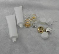 Wholesale Empty Plastic Tubes - 50g Tube Cosmetic Cream Plastic Lotion Soft Tubes Bottles Frosted Sample Container Empty Cosmetic Makeup Cream Container