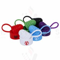 Wholesale Tank Universal - Silicone Vape Band Dust Proof Hat Silicone Cap Protective Drip Tip Hat Universal Vape Bands Non-Slip O Ring Unbreak Ring 19-25mm Tank MODs