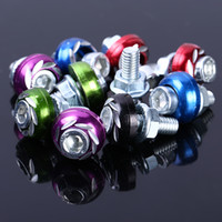 Wholesale Wholesaler Motorcycle Parts - Car Decorative License Plate Frame Screw Screws Bolt 6mm Thread Auto Hex Cap Screws alloy screws Motorcycle Car modification parts