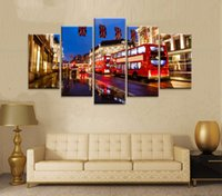 Wholesale Transportation Wall Art - 5 PCS Oil Painting Printed On Canvas Colorful Wall Pictures For Living Room Home Decor Wall Art Picture transportation in united kingdom