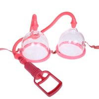 Wholesale Chest Sex - Manual Breast Pumps (Big Small size) Chest Enlargement With 2Cups Chest Nipple Pump Breast Suction Vacuum Sucker Adult Sex Toy for Women A1