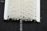 Wholesale Single Row Rhinestone Banding - Wholesale-5mm Rhinestone Banding Single Row Clear Setting for dresses Decoration sewing accessories 10 Yard