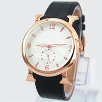Wholesale movement free - Free shipping New Leather Watch rose gold fashion Watch for women man Japan movement Luxury Lady Quartz lovers watch free shipping hot sale