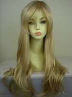 Wholesale Cheap Blonde Synthetic Wigs Curly - WoodFestival long blonde curly wigs natural cheap hair wig blond fiber synthetic wigs with bangs good quality
