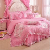Wholesale Duvet Cover Princess - Luxury cotton Princess bed bedding set girls bedding sets Childrens bedding pillowcase duvet cover in a bag nursery bedding