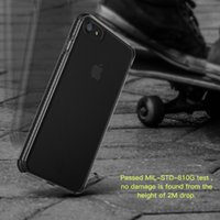 Wholesale Baseus Iphone Case - For Apple iPhone 7S Case Baseus Shockproof Armor transparent TPU TPE PC Protection Back Cover For iPhone 7 Coque Capinhas