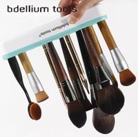 Wholesale Toothbrush Boxes - Silicone Makeup Brushes Holder Box Makeup Brush Rack Holder Stand Cosmetic Tool Multifunctional Makeup Brush Toothbrush Holder CCA8030 30pcs