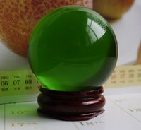 Wholesale feng shui wealth - HOT 40MM+stand Natural Green Obsidian Sphere Large Crystal Ball Healing Stone HOT