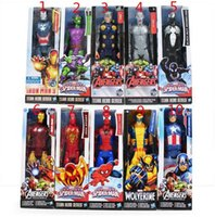 Wholesale Ironman Action Figures - New Marvel Heros 30cm Wolverine Captain America Ironman Spider-Man The First Avenger PVC Action Figure 10styles can choose