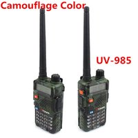Wholesale 8w Dual Band Walkie Talkie - Wholesale-New TONFA UV-985 8W Dual Band VHF+UHF 136-174MHz&400-470MHz Two Way Radio TONFA UV 985 VOX DTMF Walkie Talkie UV985