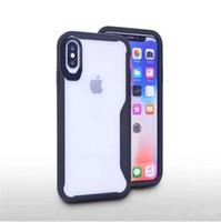 hybrid case al por mayor-Armadura híbrida funda para iphone x iphone 8 iphone 7 transparente cubierta transparente para Samsung Galaxy Note 8 Galaxy S8 Plus