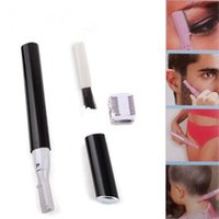 Wholesale Triple Razor Wholesale - Practical Electric Face Eyebrow Hair Body Blade Razor Shaver Remover Trimmer electric shaver rasoir electrique electric shavers for women