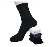 meias finas masculinas venda por atacado-Atacado-Meias Novo 2015 Hot Sale 10Pairs / Lot Longo Ultra-fino Masculino Respirável Meias para verão masculina de Ginásio Fresco De Bambu meias de fibra de Bambu