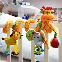 nova girafa venda por atacado-New Arrival Brinquedos para bebês Cute Giraffe musical Berço multifuncional Cama suspensa Bell Brinquedos educativos Chocalhos para crianças