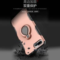 Caso novo original para iphone X para samsung Note8 S8 S8plus com Raindrop Design 360 Metal Ring kickstand Hard PC Soft TPU Cover