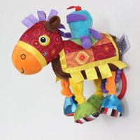 Wholesale Horse Education - Promotion price Lamaze knight and horse lathe hang baby comfort doll baby toy bed hanging early education doll toy
