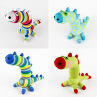 Wholesale Handmade baby toys sock Dinosaur stuffed animal doll kid birthday gift