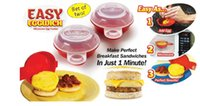 Wholesale Egg Packing - Brand New Easy Eggwich Microwave Egg Cookers Pan Set Of 2 Per Box With Retail Packing