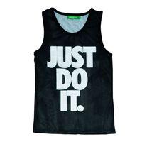 Wholesale Did Tanks - FG1509 2015 Mens summer sleeveless tank top JUST DO IT letter print basketball net vest bodybuilding camisetas de tirantes hombre