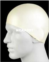 ingrosso berretti da bagno-Gli uomini all'ingrosso - cappello sportivo di nuoto di flessibilità del cappello di nuoto sportivo resistente alla moda del lattice di nuoto 2 colori