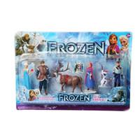 Wholesale Top Toy Figures - Frozen Anna Elsa Hans Kristoff Sven Olaf PVC Action Figures Toys Classic Toys 6pcs set Top Quality Hot 100pcs