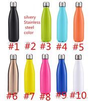 moda su şişeleri toptan satış-Paslanmaz Çelik Kola Şekil Şişe Su Şişeleri Vakum Bardak Spor Şişeleri Açık Drinkware Su Isıtıcısı 500 ml Destek OEM Moda