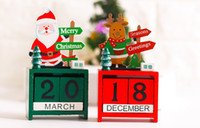Wholesale Wooden Desk Calendars - top quality Wooden christmas tree advent desk calendar Educational wooden toys for Kids Xmas gifts for Children