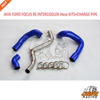 JKVK RACE UPGRADED FORD FOKUS RS INTERCOOLER CHARGE PIPE + Silikonschlauch KITS BLUE-Black 2016 - 2017
