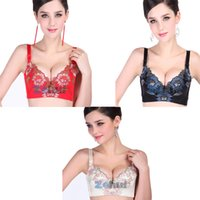 All'ingrosso-Sexy Lady donne ricamate Bra profondo-V Push Up Plunge ferretto del reggiseno