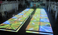 Wholesale Stage Floor Tile - Wholesale-Free shipping wedding decoration led dancing floor led dance floor tile  dj disco bar night-club stage lighting  led dance floor