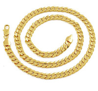 mücevherat satın al toptan satış-En iyi satın ince sarı altın takı Zarif erkek 14 k sarı katı altın GF pricker kolye zincir toka 23.6 inç