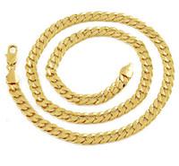 collar de cadena de oro amarillo macizo de 14k. al por mayor-mejor compra joyería fina de oro amarillo Exquisita hebilla de cadena de collar de pricker GF de oro macizo de 14 k para hombres de 23,6 pulgadas