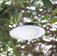 ağaçlar için dış ışıklar toptan satış-Açık su geçirmez IP65 Güneş ışığı Portatif Kamp lamba açık bahçe güneş paneli lambaları Ağacı dekorasyon ücretli güneş asılı lamba led