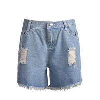 Wholesale Denim Brand Jeans For Women - Brand High Waist Women Shorts Fashion Jeans Denim Shorts For Women Casual Summer Women Short Pants