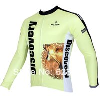 Wholesale Discovery Cycling Jersey Long Sleeves - FG1509 Hot sale 2015 New Men Cycling Jersey Long sleeve Bike Shirt Clothing Paladin Sport DISCOVERY Africa S-3XL